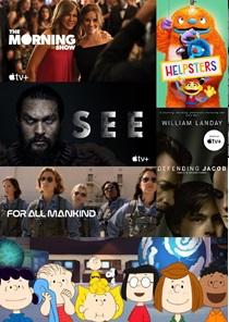 Collage di locandine di serie di Apple TV+